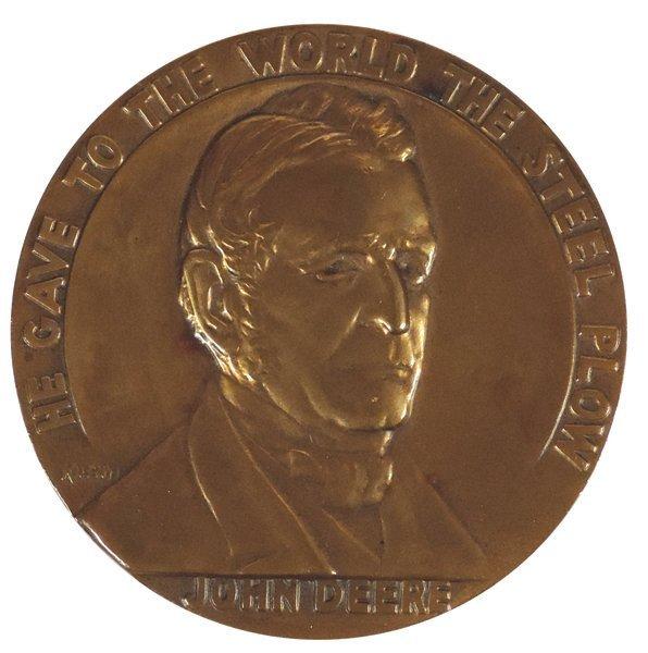 John Deere medallion, John Deere Centennial 1837-1937,