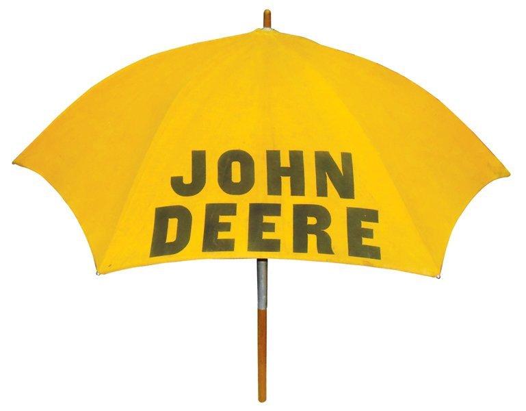 John Deere tractor umbrella, cloth 6-panel w/John Deere