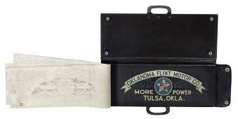 Automotive salesman's sample advertising tire cover