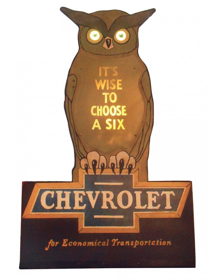 Automotive animated sign, Chevrolet Blinking Owl,