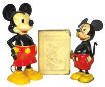 Mickey Mouse toys  bank 3 Marx WDP plastic windup