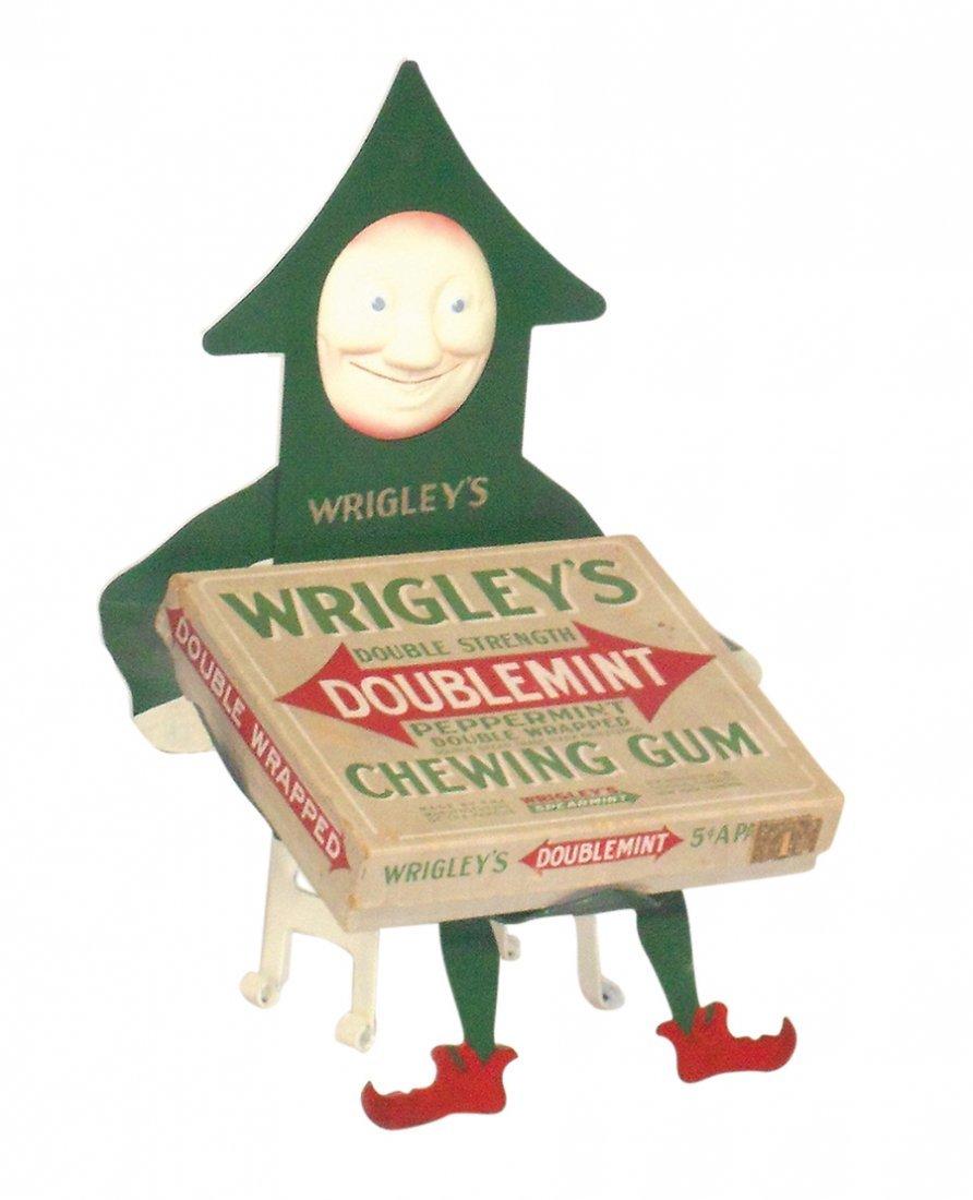 Chewing gum display, Wrigley's Gum, diecut metal