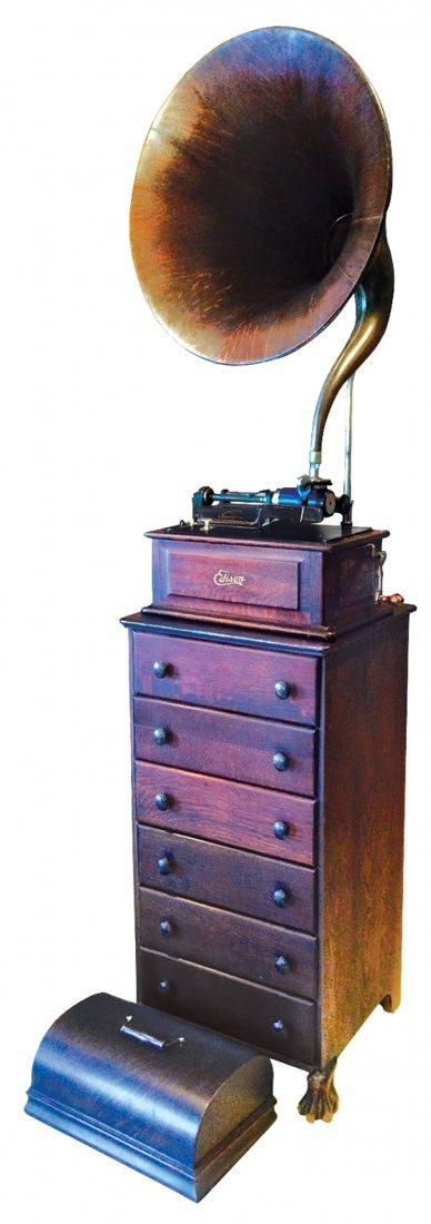 Edison cylinder phonograph, Edison Triumph w/matching