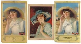 Advertising calendar tops (3), all McCormick-Deering
