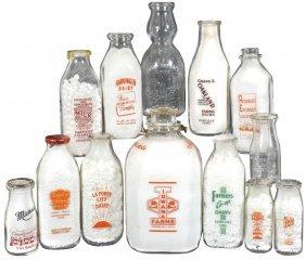 Milk Bottles, Iowa Dairies (13), Iowana; Harding Co.