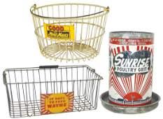 Farm equipment 3 Wayne Feed egg basket wire wmetal