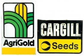 Seed Signs (4), Gold Tag, By Ferry Morse Seed Co, Mfgd