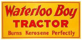 "John Deere Waterloo Boy Tractor Sign, ""burns Kerosene"