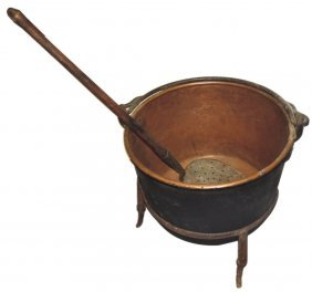 Copper Kettle, Skimmer & Stand (3), Apple Butter Kettle