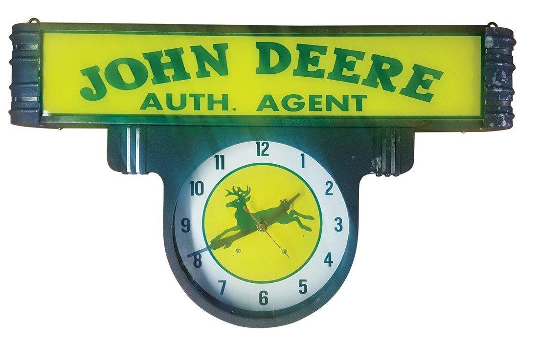 Clock, Lackner Co.  light-up w/advertising for Jo