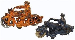 "Toy motorcycles (2), Hubley Harley Jr., 5.5""L &"