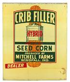 Seed sign, Crib Filler Hybrid Seed Corn, Mitchell