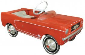 Child's Pedal Car, Ford Midget Mustang, Spinner-type