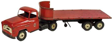Toy, Tru-Scale International Truck w/flatbed trailer,