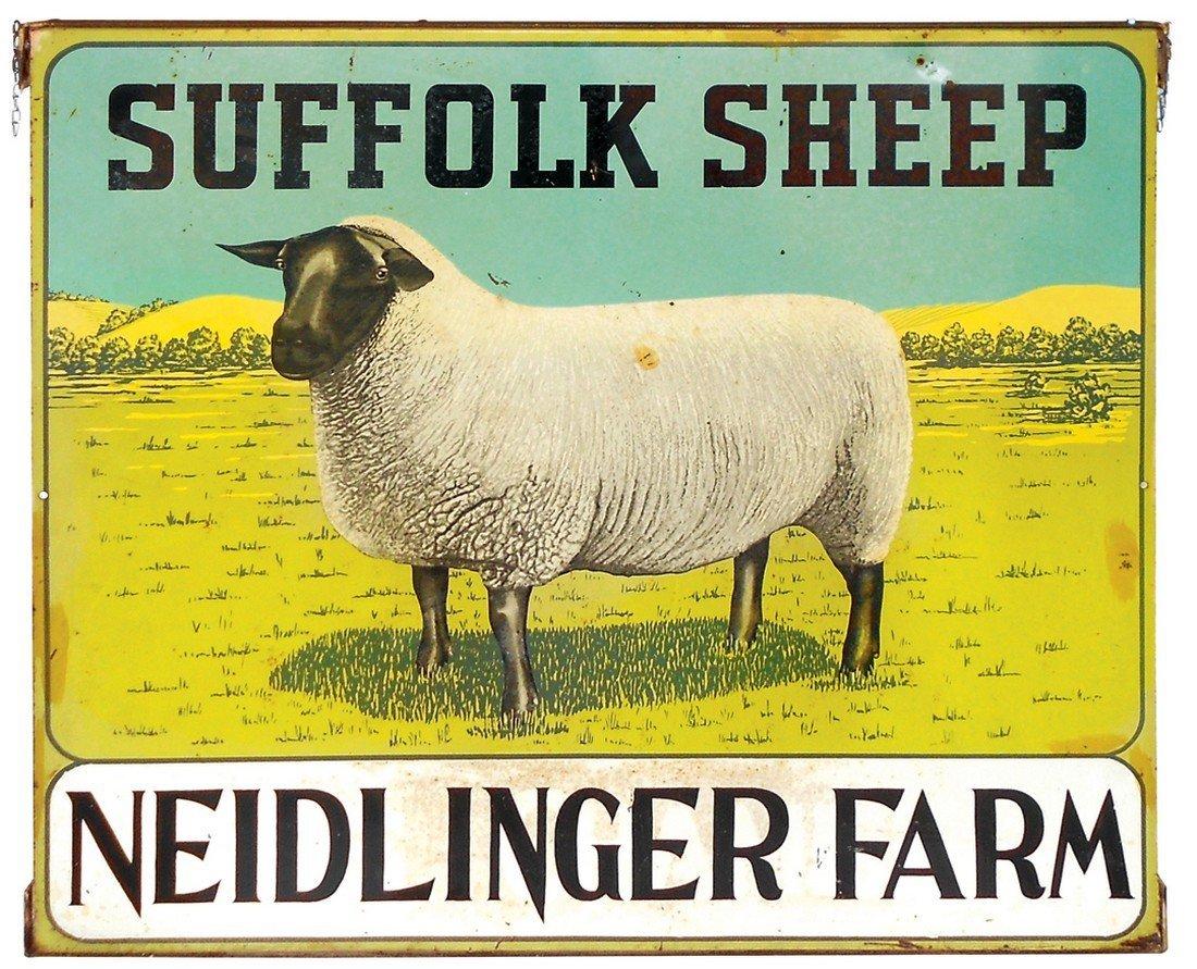 Livestock sign, Suffolk Sheep from Neidlinger Farm,
