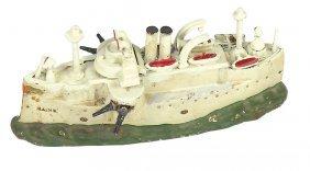 Still Bank, Battleship Maine, Mfgd By J. & E. Stevens,