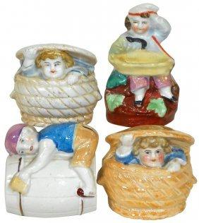 Still Banks (4), Children In Baskets, In High Chair &