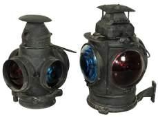 Railroad lanterns, (2), Adlake Non-Sweating-Chicago, 4