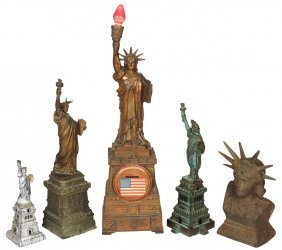 Still Banks (5), All Statue Of Liberty: (3) Cast Iron,