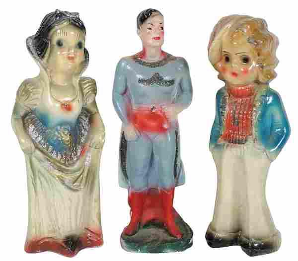 Carnival chalkware figures (3), Superman (Exc), Snow