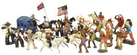 Toy Soldiers (22), Cowboys, Indians & Horses,