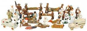 Toy Soldiers (25), Hospital Crew, (2) Ambulances,