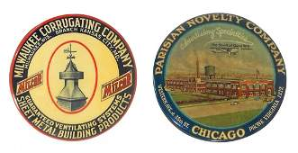 Advertising pocket mirrors (2), MilCor-Milw. Corrugatin