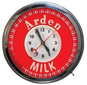 Soda Fountain Clock, Arden Milk, 3-ring Neon Spinner,