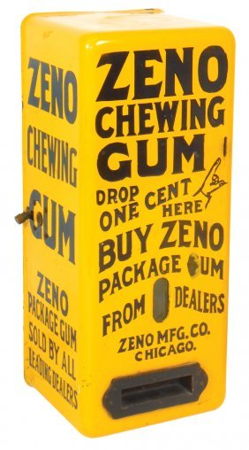 Coin-operated Gum Machine, Zeno Chewing Gum 1 Cent