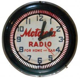 Radio Advertising Clock, Motorola Radio For Home And