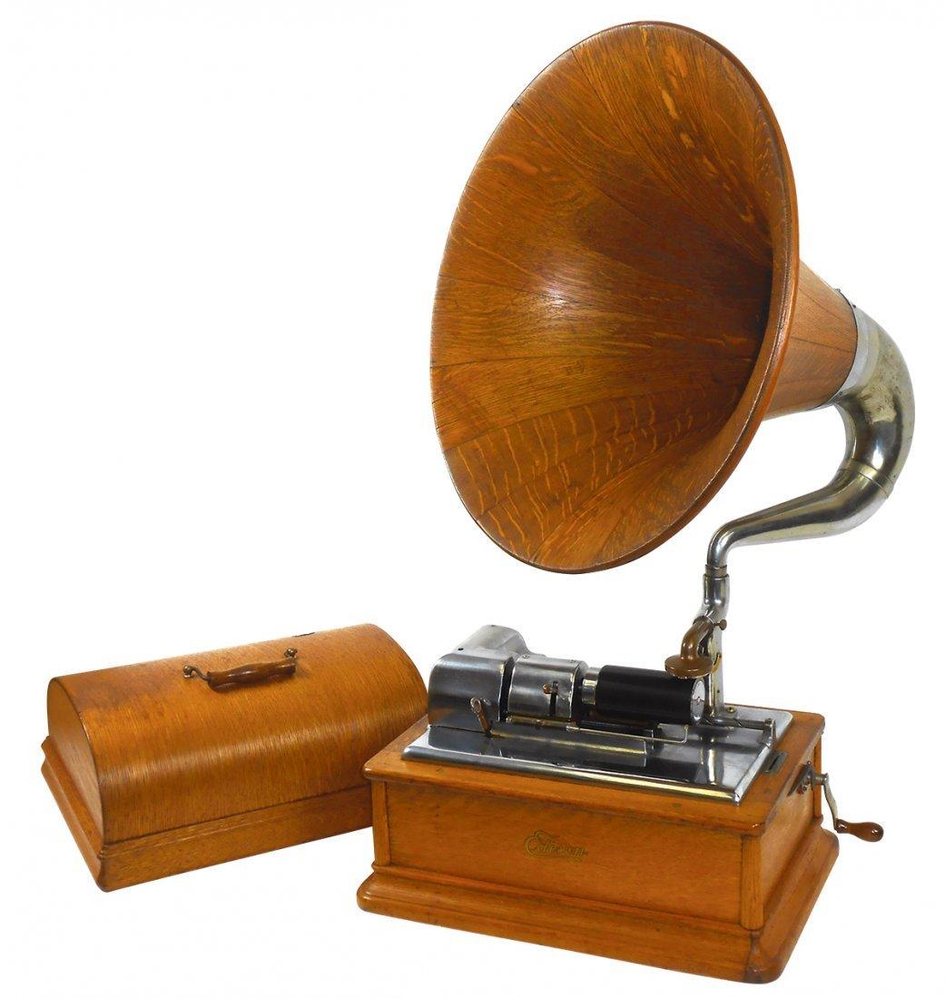 Music, Edison Opera cylinder phonograph, Type SM, Model