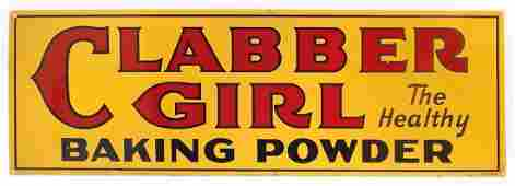 Country store sign, Clabber Girl Baking Powder, 2-sided