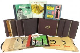 Music, 78 Rpm Records (17) & Albums W/records From