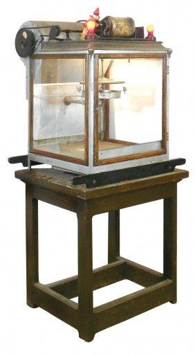 Cretors Popcorn & Peanut Machine W/clown Figure,
