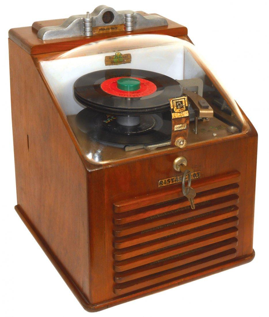 Music, record player, Ristaucrat 45 rpm automatic, oak,
