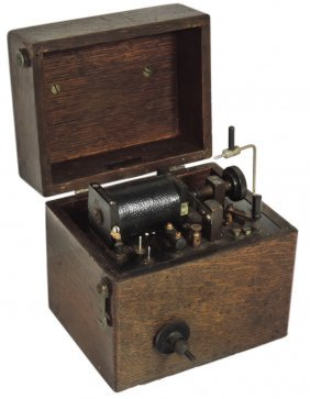 Medical Device, Quack Therapy Shock Machine In Wood