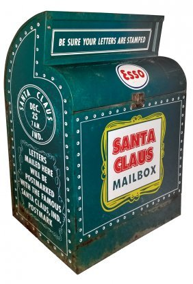 Petroliana, Esso Santa Claus Mailbox, Used At Old Esso