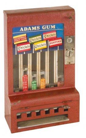 Coin-operated Gum Vendor, Adams 1¢, Mills, Serial