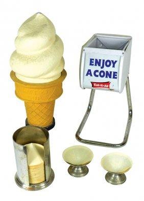 Soda Fountain Ice Cream Accessories (5), Safe-t-cup