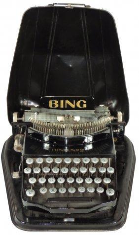 Office Equipment, Bing Portable Typewriter In Metal