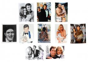 Autographed Photos (10), James Bond In Never Say Never
