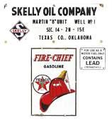 Gasoline pump plates & oil company sign (3), Texaco