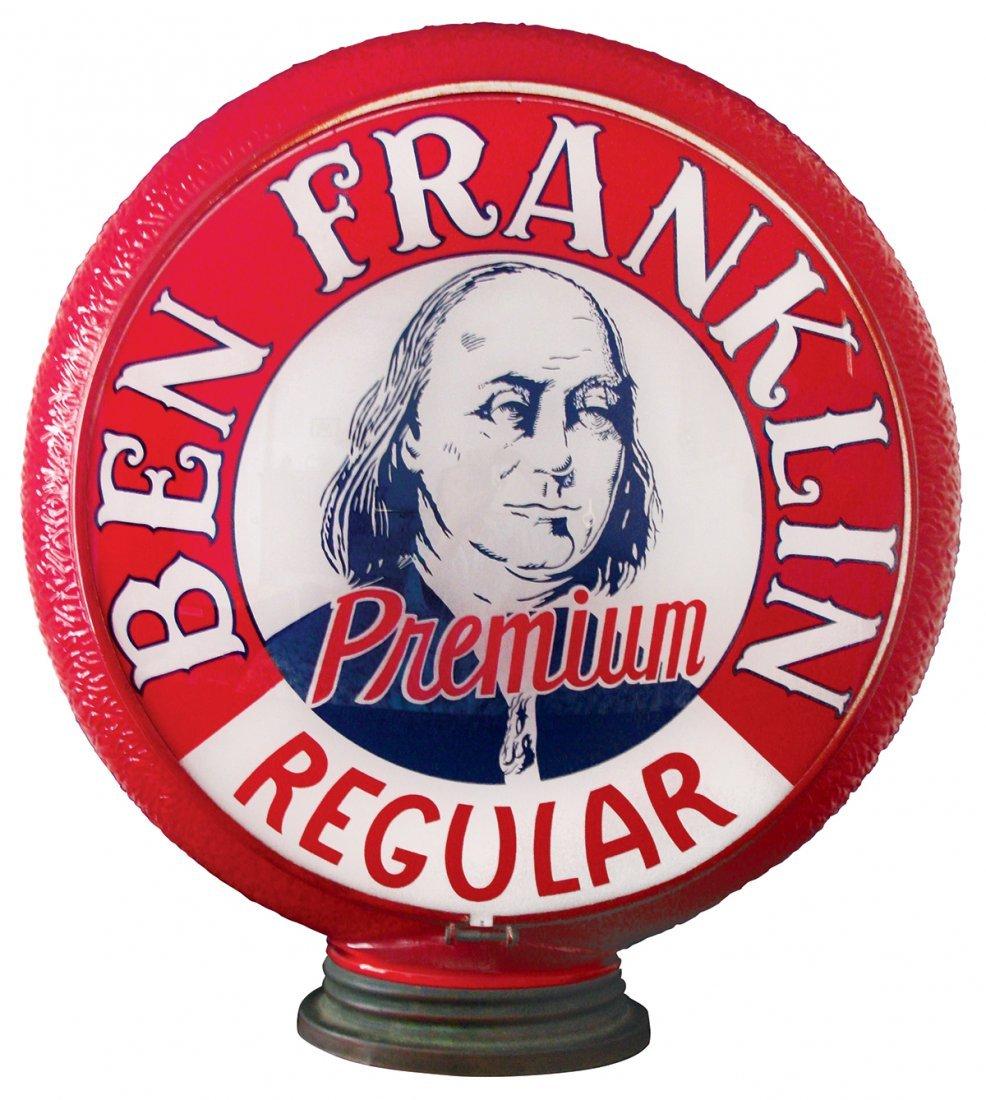 Gasoline globe, Ben Franklin Premium Regular, Rare,