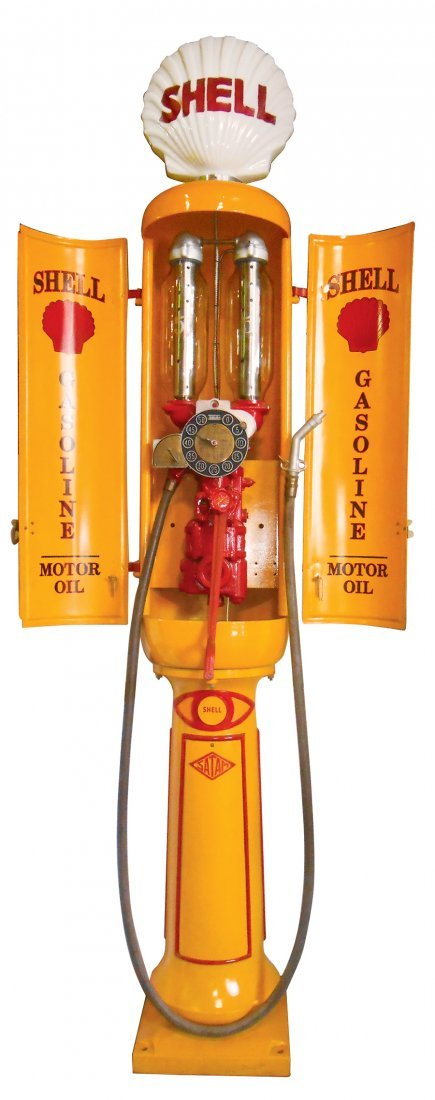 Gasoline pump, Satam visible, Model M04, Rare, mfgd in