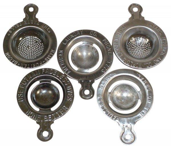 008: Kitchenware, advertising egg separators & strainer