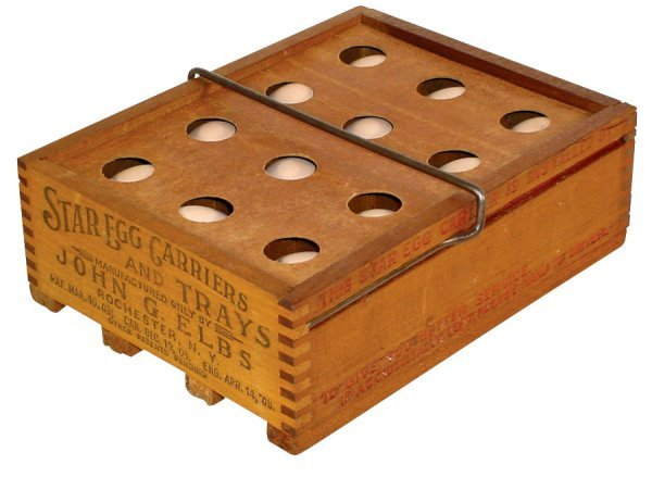 018: Egg carrier, Star Egg Carriers & Trays, mfgd. by J