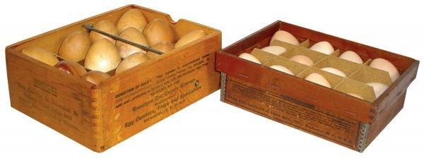 020: Egg carriers (2), Star Egg Carrier & Tray Mfg. Co.