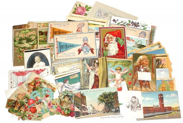 021: Postcards & valentines, a bag full of early to mid