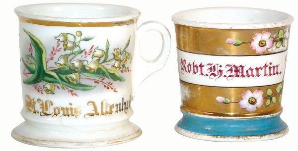 "504: Barber shop shaving mugs (2); ""St. Louis Altenheim"