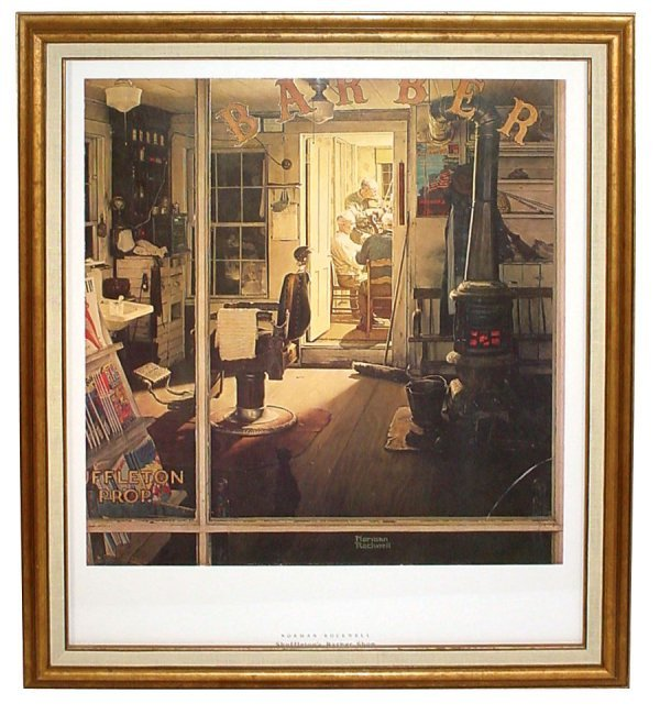 "514: Barber shop print, Norman Rockwell's ""Shuffleton's"